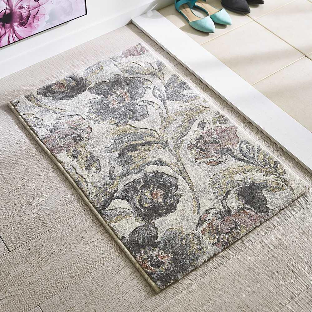 Platine/プラティーヌ ウィルトン織マット (ア)ピンク系 ※写真は約60×90cmタイプです。