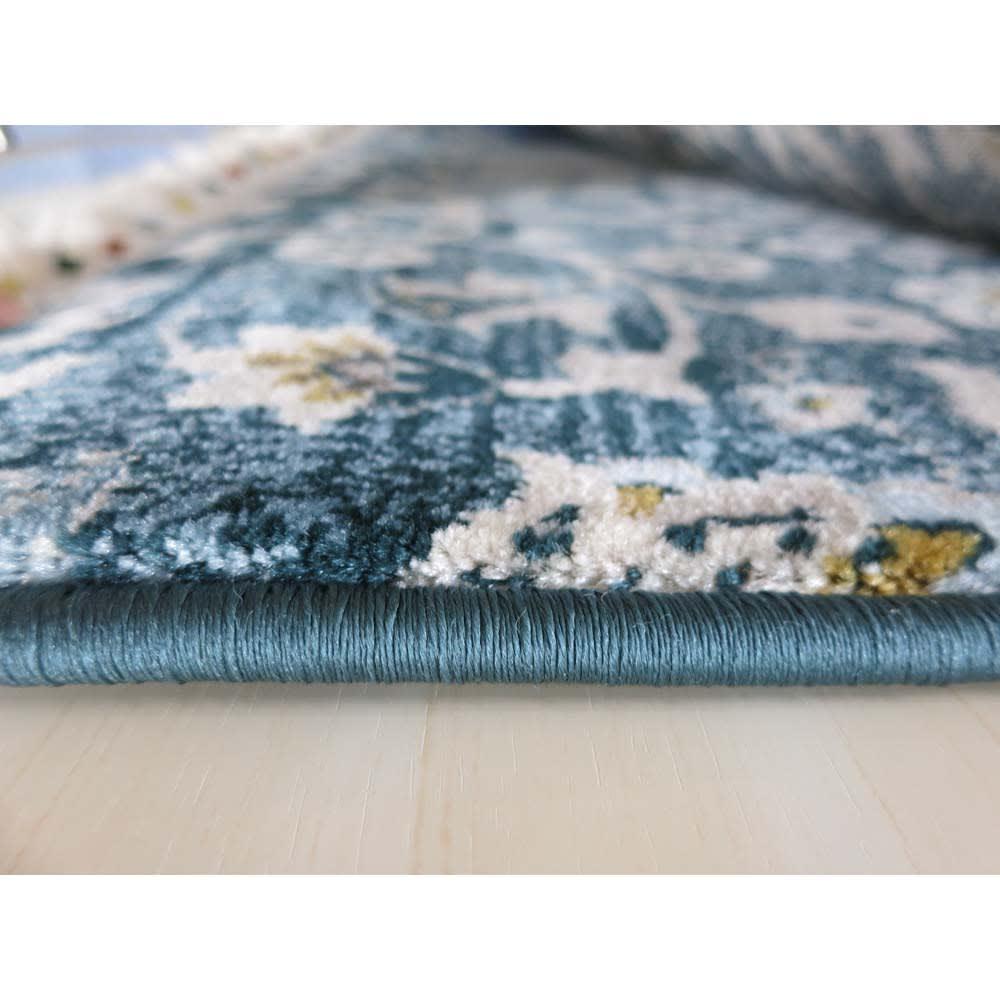 トルコ製ウィルトン織 マット〈アクアホーム〉 厚さ約15mm