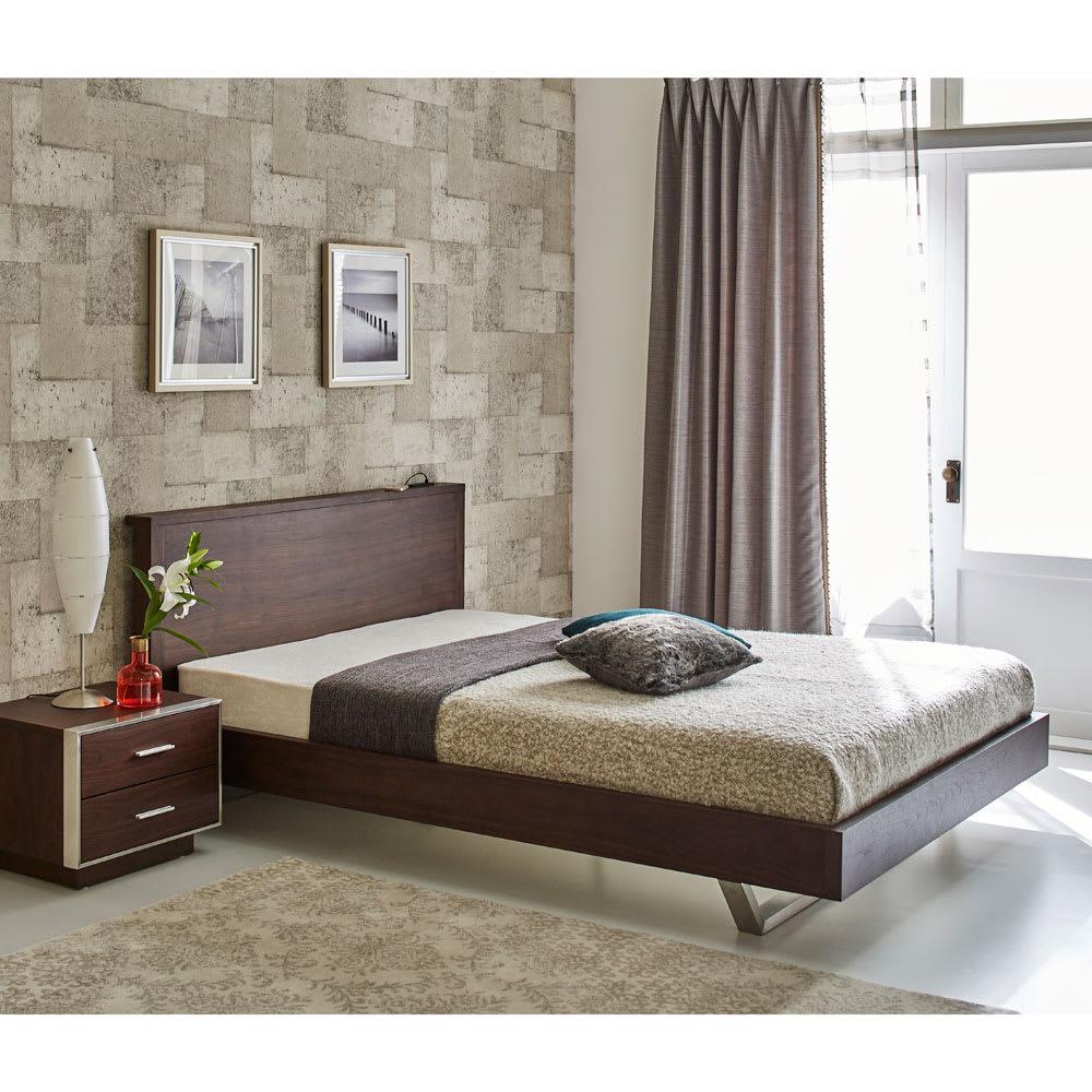 GlanPlus/グランプラス ベッド ユーロトップポケットコイルマットレス クールモダンなデザインにUSB 充電も装備した都会派ベッド