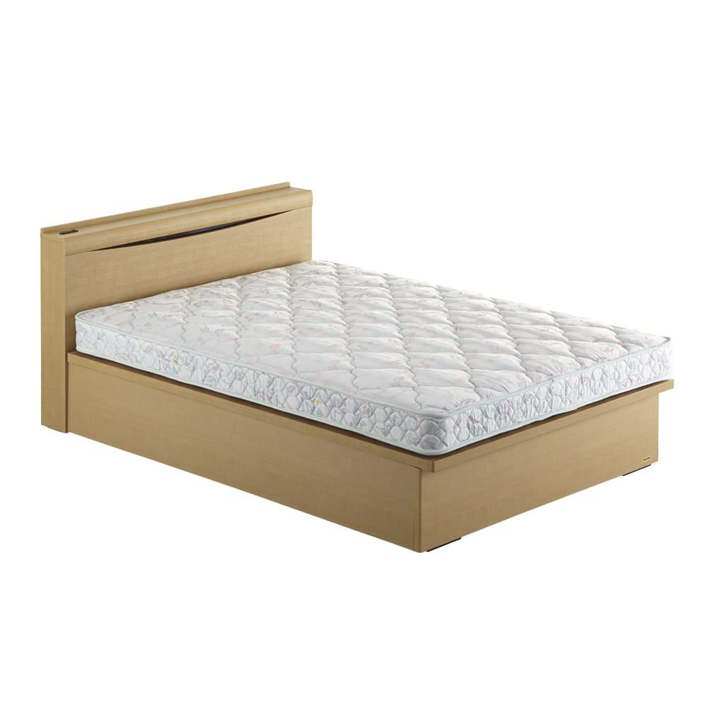 FranceBed(フランスベッド) 棚照明付き跳ね上げベッド 縦開きタイプ ナチュラル