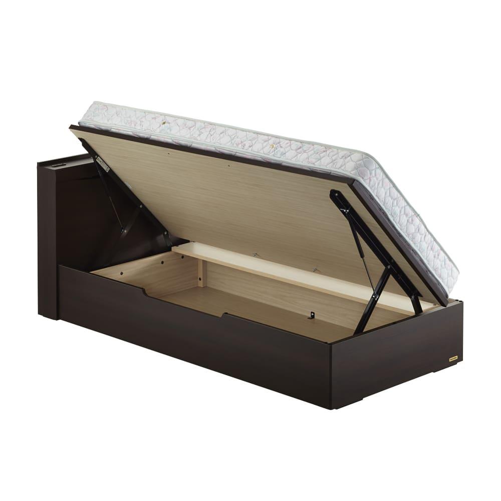 FranceBed(フランスベッド) 棚照明付き跳ね上げベッド 横開きタイプ
