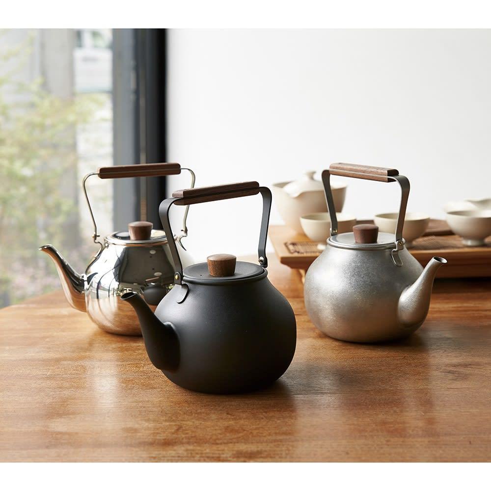 ミヤコ ステンレス製急須 大 お手入れ簡単で割れない、ステンレス製の急須。コーヒーのドリップにも◎。