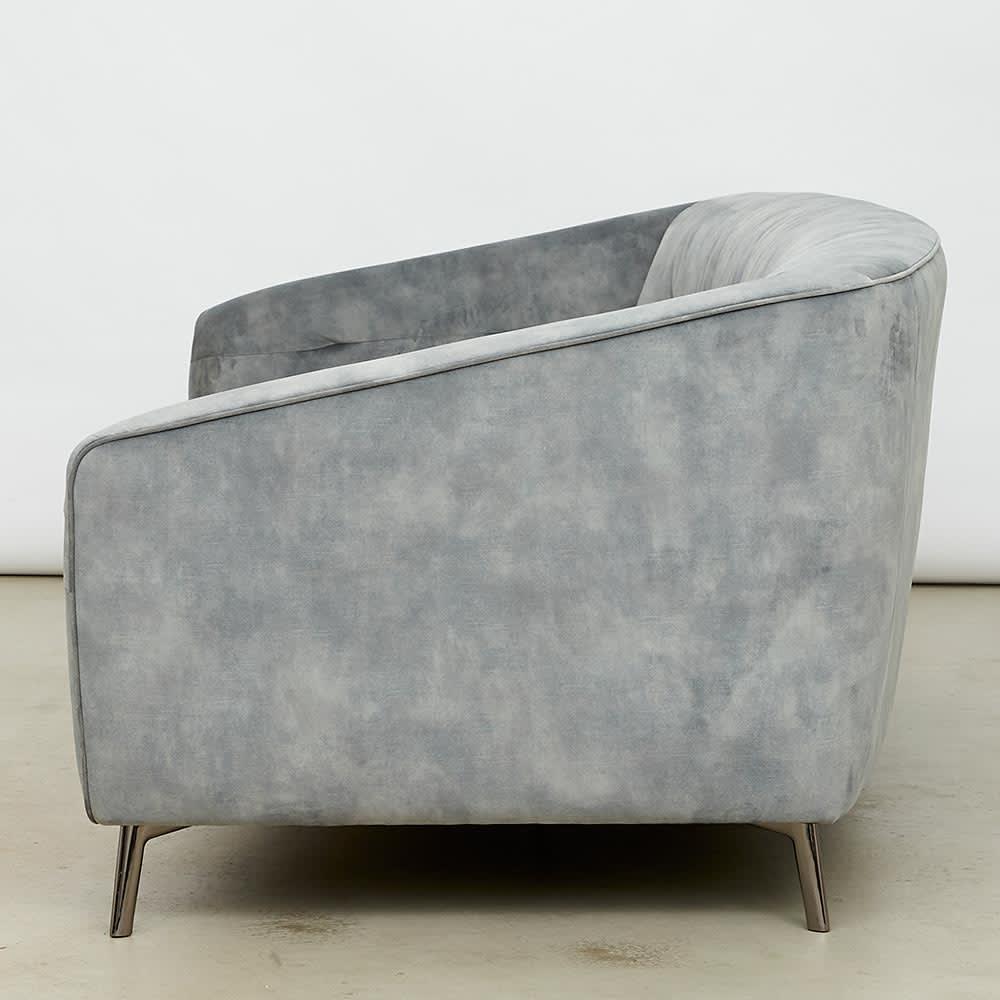 klassine/クラシネ スチールデザインソファ 2.5人掛け 横から