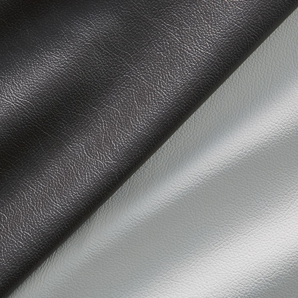 Luola/ルオラ 総革張りレザーソファ ラブソファ(2人掛け) 生地アップ 左:ダークブラウン、右:Nホワイト(ライトグレーに近い色味となります)