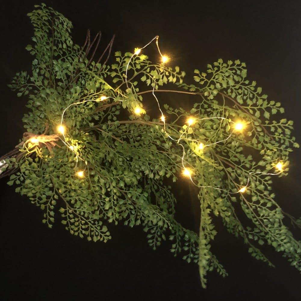 アジアンタム インテリアグリーン グリーンスワッグ クリスマスシーズンにイルミネーションを絡めて飾っても◎※H44911の画像です。