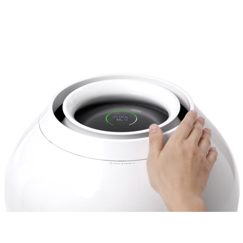 バルミューダ Rain/レイン Wi-Fiモデル WIFIモデル 本体 上部のコントロールリングを回して押すだけの簡単操作