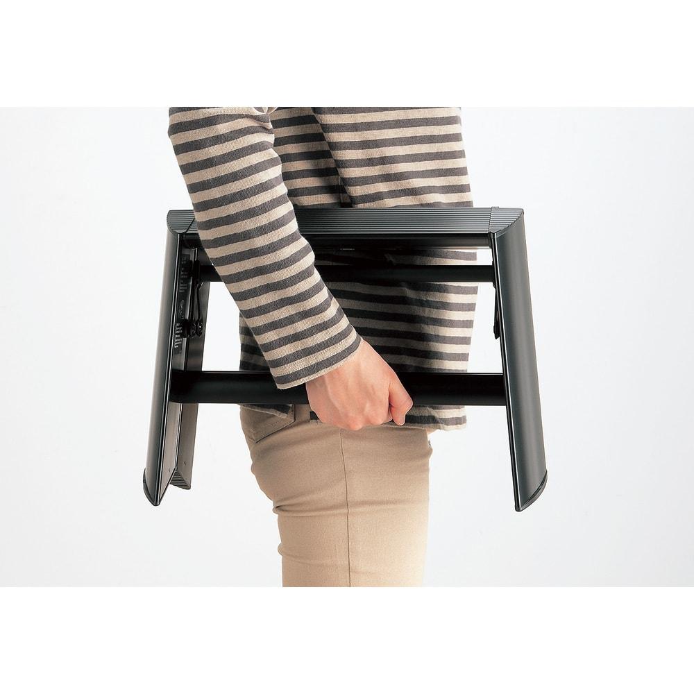 METAPHYS/メタフィス アルミステップ「ルカーノ」 1段 軽いアルミ製で、持ち運びも簡単です。