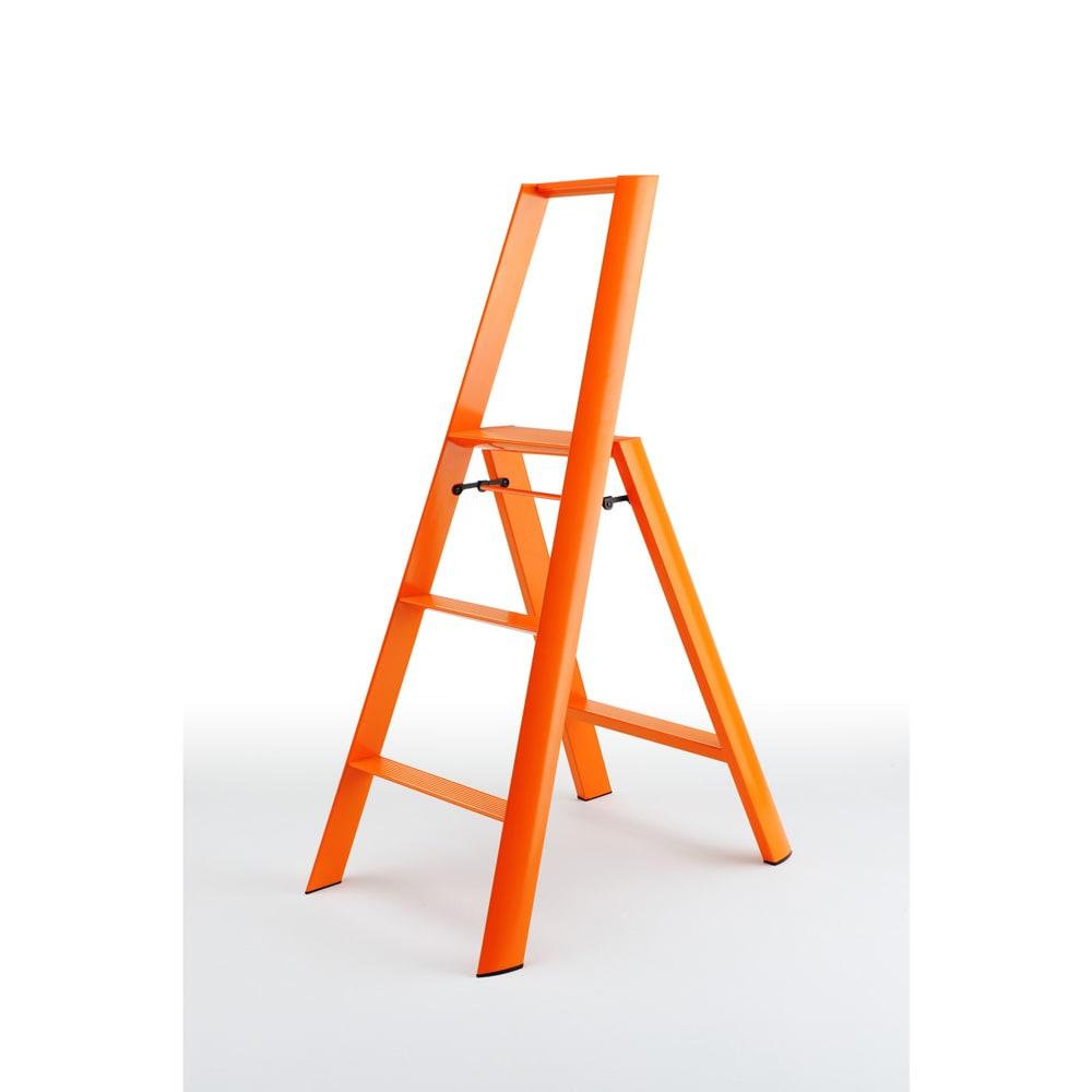 METAPHYS/メタフィス アルミステップ「ルカーノ」 3段 オレンジ