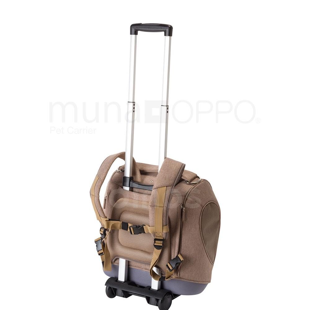 ミュナペットキャリーバッグ お手持ちのキャリーに固定可能。