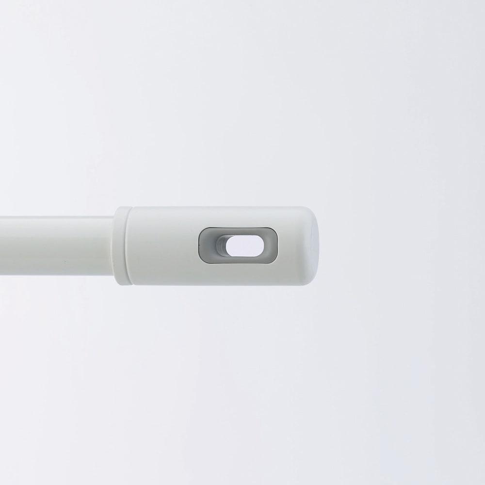 nasta/ナスタ 室内物干し 伸縮物干し竿 ホワイト×グレー