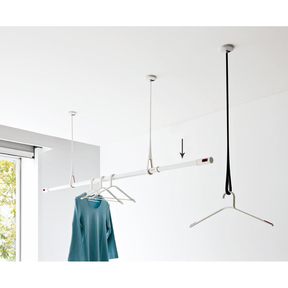 nasta/ナスタ 室内物干し 伸縮物干し竿 使用例・お届けする商品は物干し竿です。