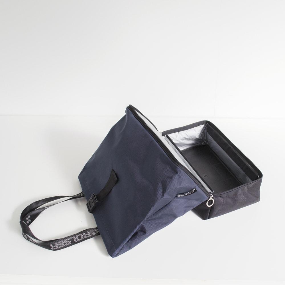 ROLSER/ロルサー ショッピングカート 4輪カート+保冷・保温付きバッグ 下段は生鮮食品に安心の保冷バック仕様。
