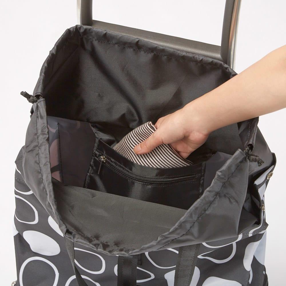 ROLSER/ロルサー ショッピングカート 4輪カート+保冷・保温付きバッグ 安心の内ポケット。