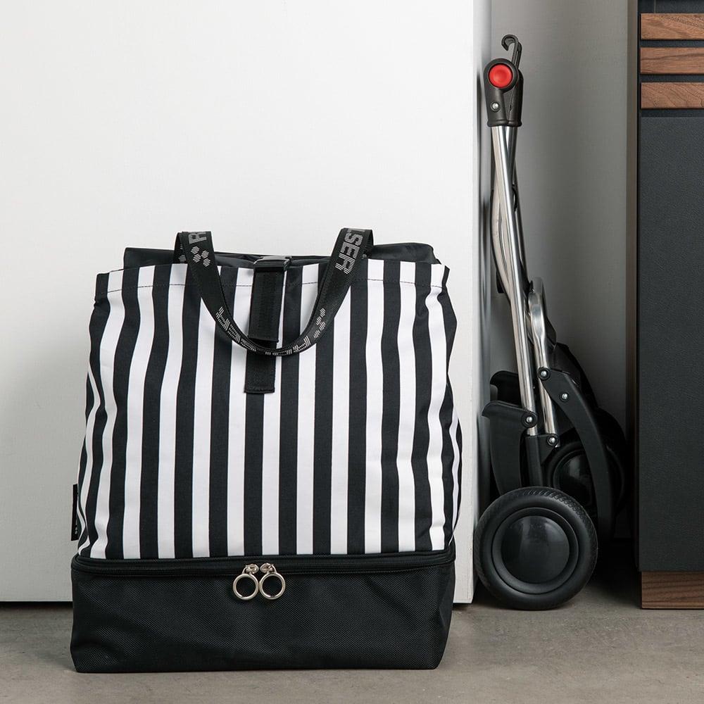 ROLSER/ロルサー ショッピングカート 4輪カート+保冷・保温付きバッグ 折りたたんで収納もコンパクト。