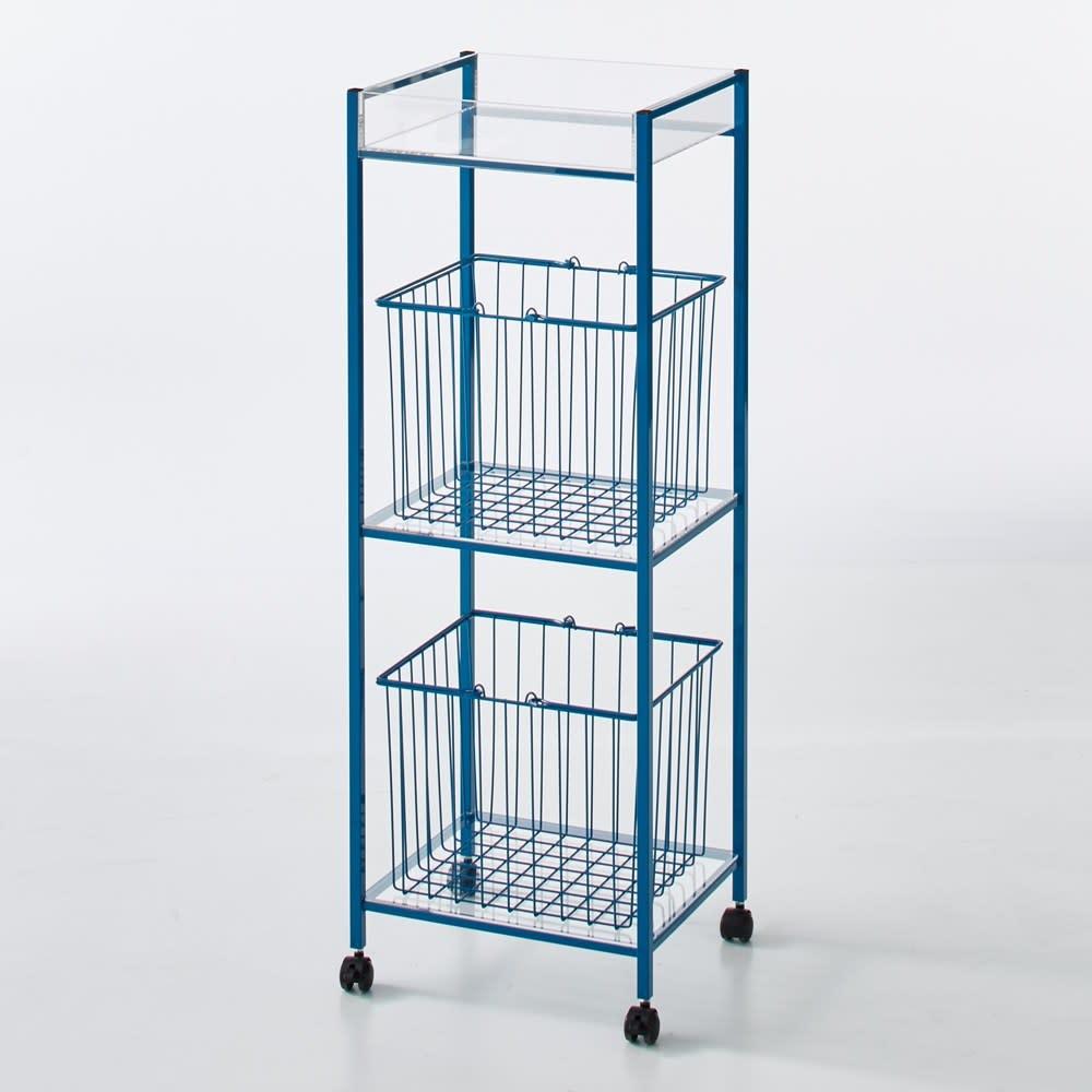 Ventol/ヴェントル ランドリーカート バスケット2個 ブルー