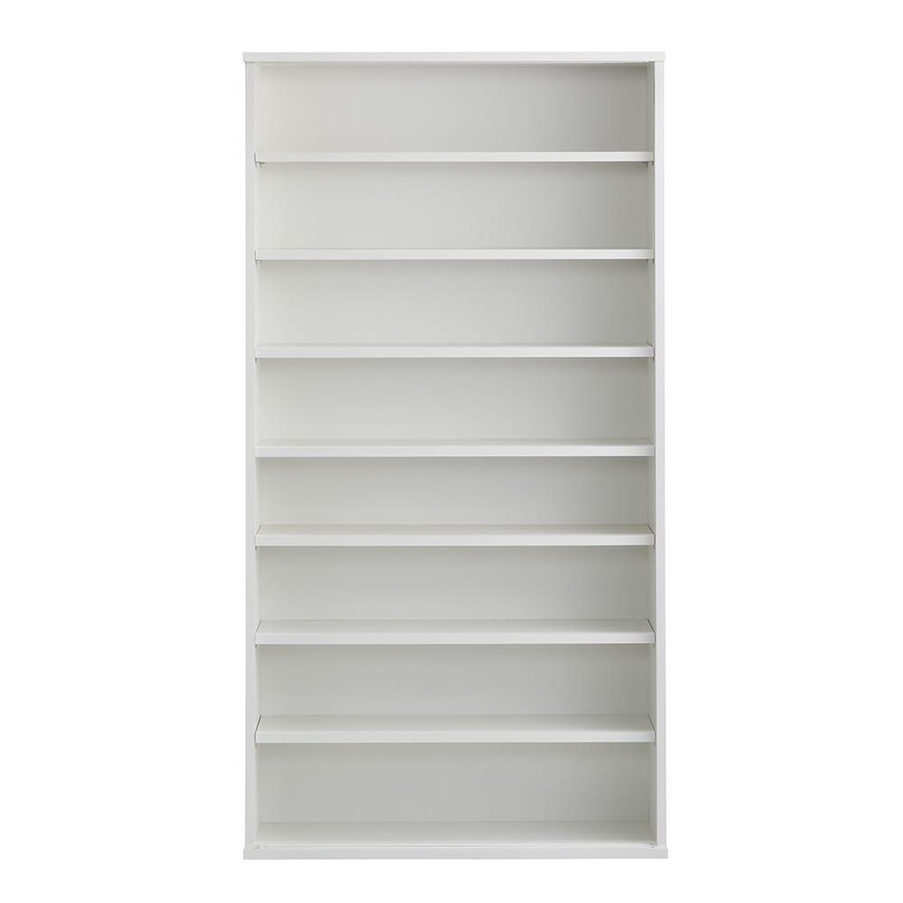 Clair/クレール 引き戸サニタリー収納庫 幅90cm (イ)ホワイト ※写真は扉を外しています。