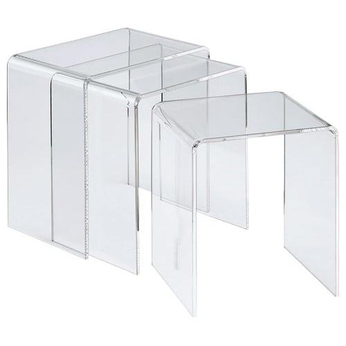 Gel/ジェル アクリルネストテーブル 3台セット 大中小の3台セット