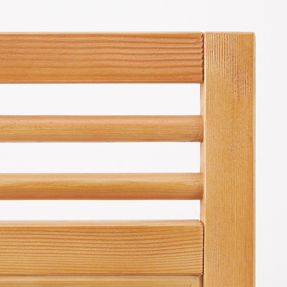 Verde/ベルデ 折り畳みパーテーション 3連 (ア)ナチュラルはフレームも編地に合わせたライトカラーで。よりカジュアルな雰囲気に。