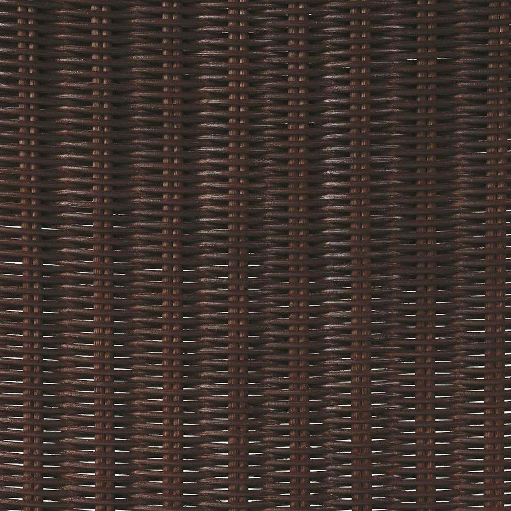 Verde/ベルデ 折り畳みパーテーション 5連 (イ)ダークブラウン ダークブラウンのラタン網部分はシックなかなり濃いめのブラックに近いこげ茶色。光が透けてちらちらと光るところが美しい。
