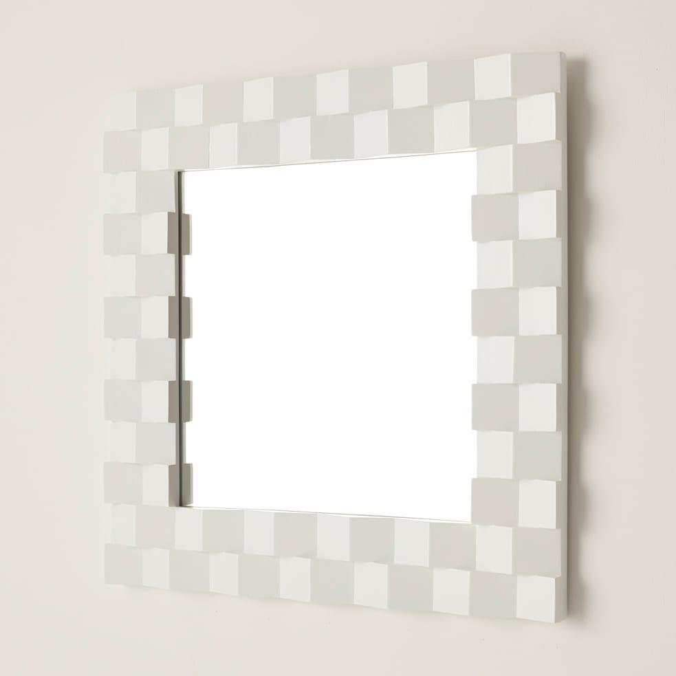 PHILOS/フィロス プリズミー壁掛けミラー・ウォールミラー 幅60×高さ60cm ホワイトウォッシュ
