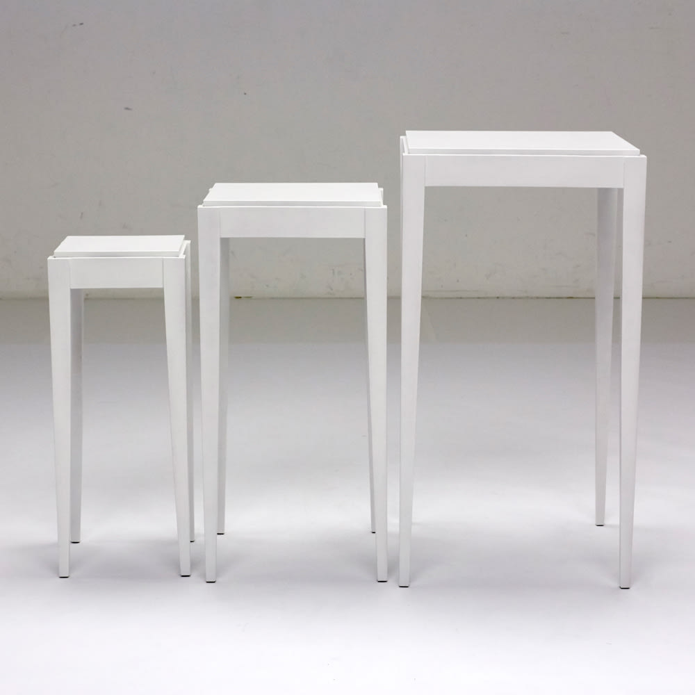 PHILOS/フィロス スリムレッグシリーズ ネストテーブル(大・中・小の3台セット) ホワイトウォッシュ