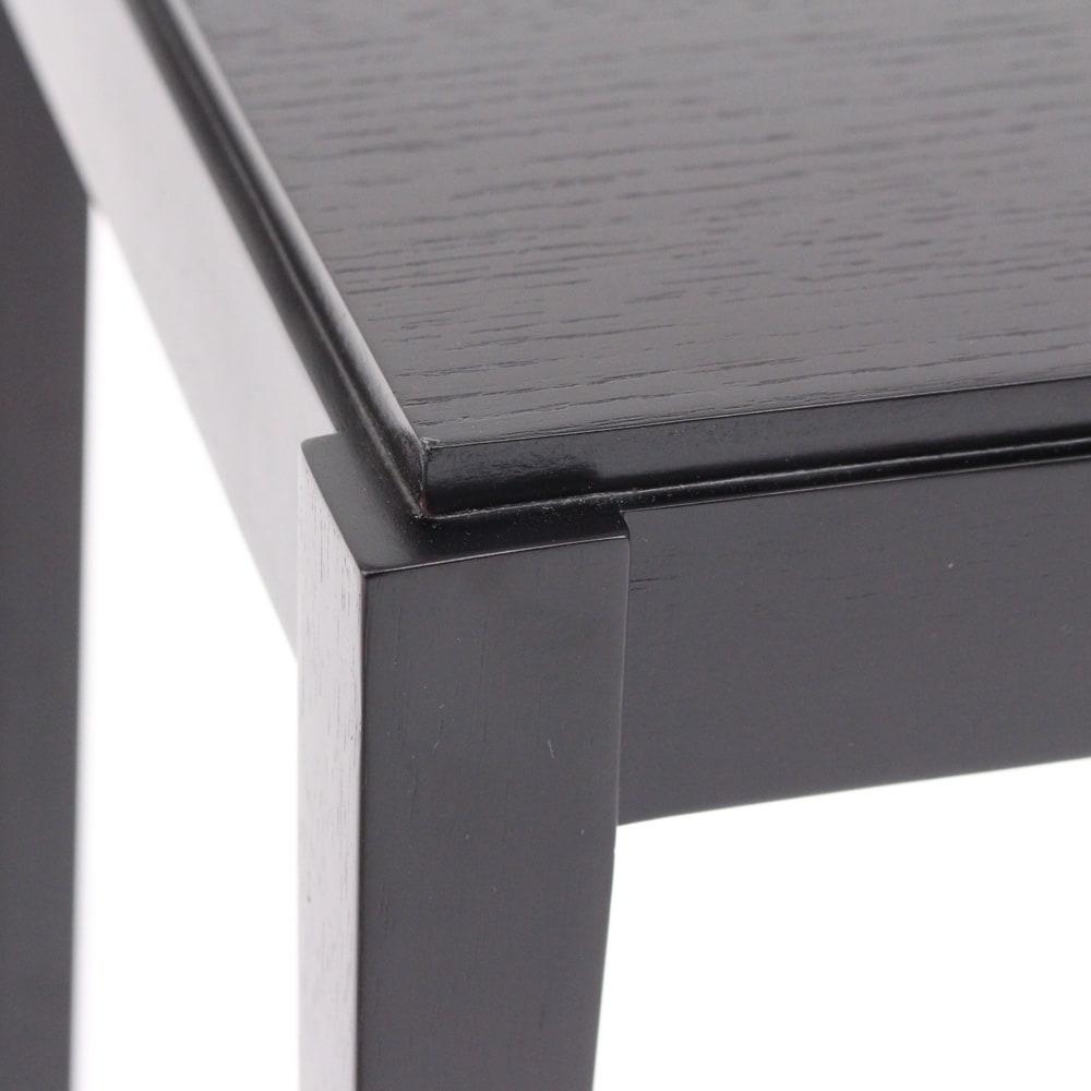 PHILOS/フィロス スリムレッグシリーズ ネストテーブル(大・中・小の3台セット) ダークブラウン 天板をちょっと浮かせたような繊細なデザイン