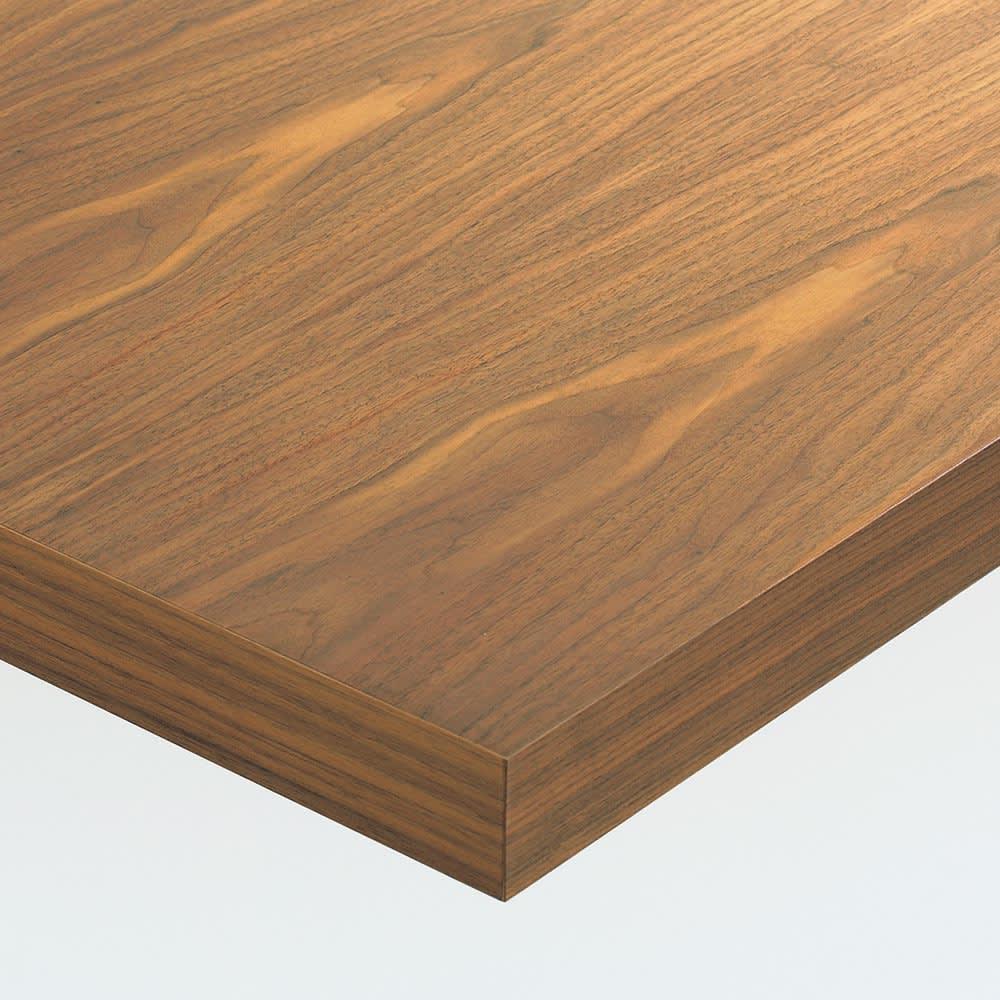 Multi マルチダイニングテーブル ウッドレッグタイプ 幅200cm 素材アップ:ウォルナット 美しい木目が人気のウォルナット材