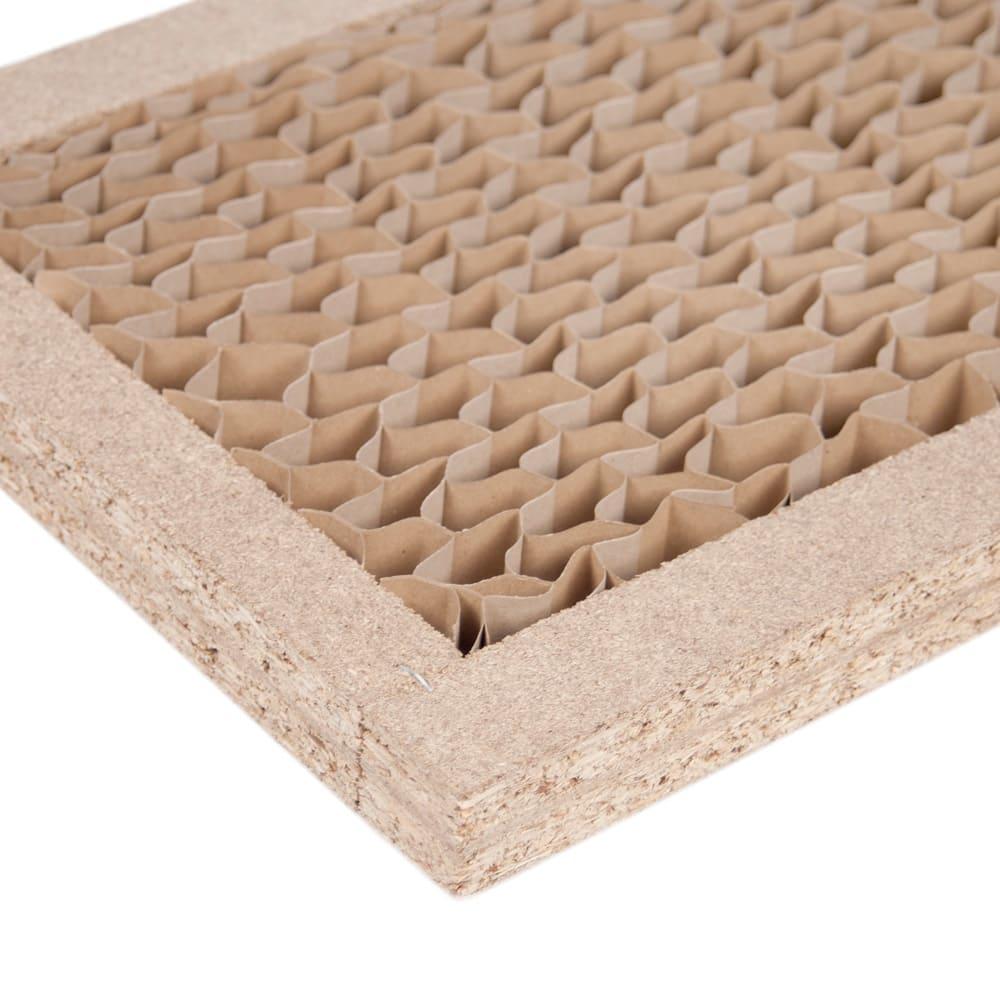 Multi マルチダイニングテーブル パネルレッグタイプ 幅180cm 厚み50mmの分厚い天板の内部は、丈夫なハニカム構造で頑丈です。