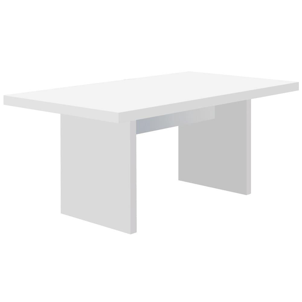 Multi マルチダイニングテーブル パネルレッグタイプ 幅200cm 色見本:ホワイト