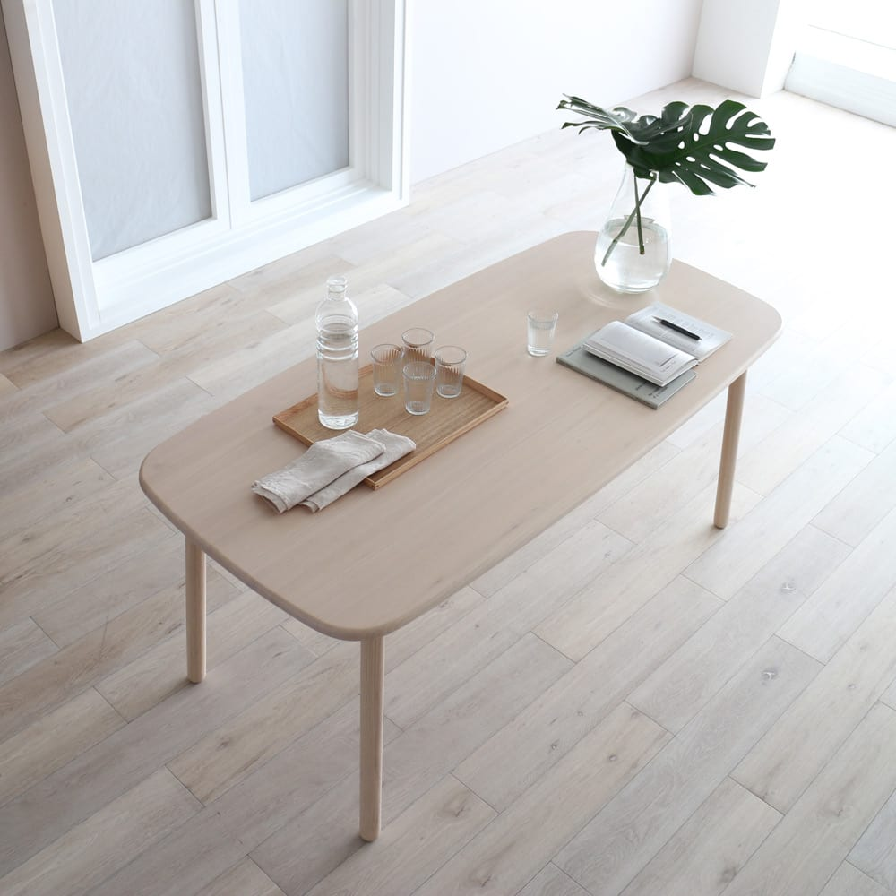 Ridge/リッジ ダイニングテーブル 天然木長方形テーブル 幅160cm