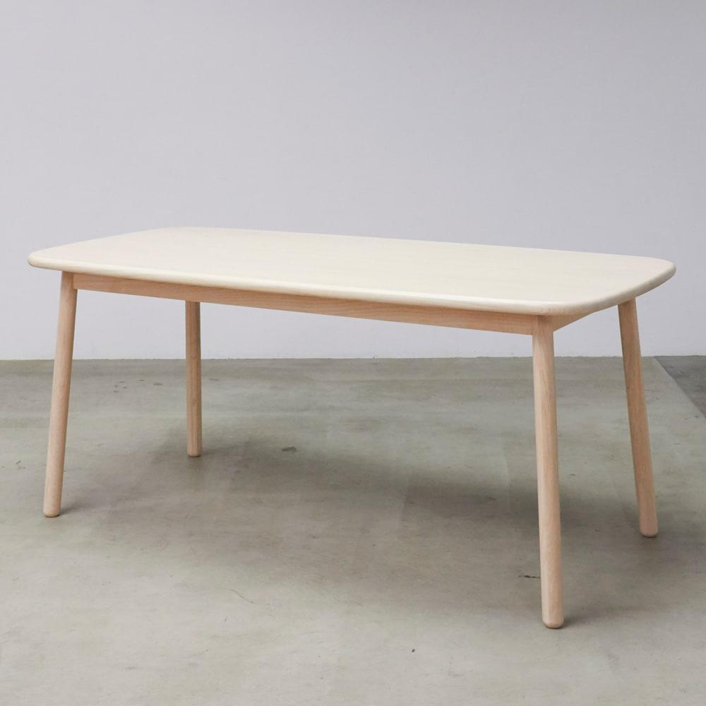 Ridge/リッジ ダイニングテーブル 天然木長方形テーブル 幅160cm 長方形テーブル 幅160cm×奥行75cm     アッシュ天然木の木目が美しい長方形ダイニングテーブル。
