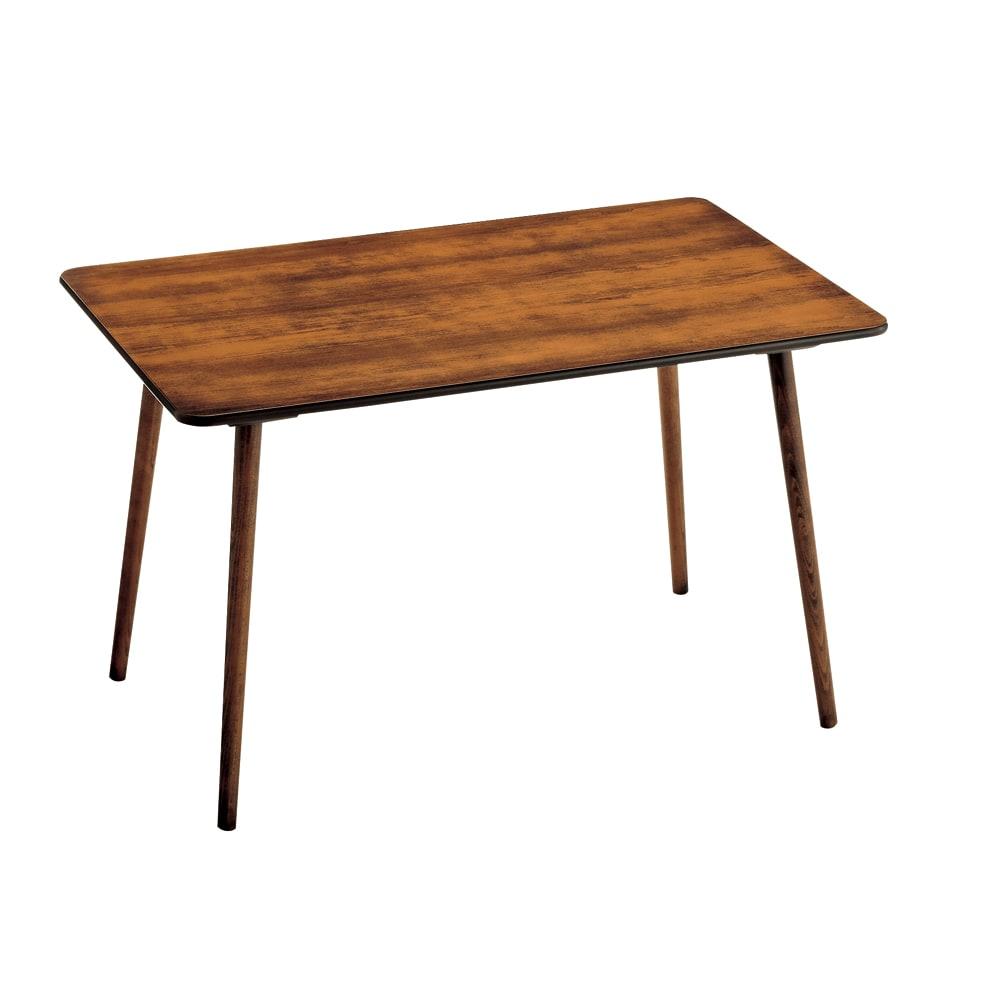 アンティーク風テーパーダイニングテーブル 長方形テーブル幅約120cm×80cm[チェコTON社製] 全体(実際の色はこの写真より濃いです)