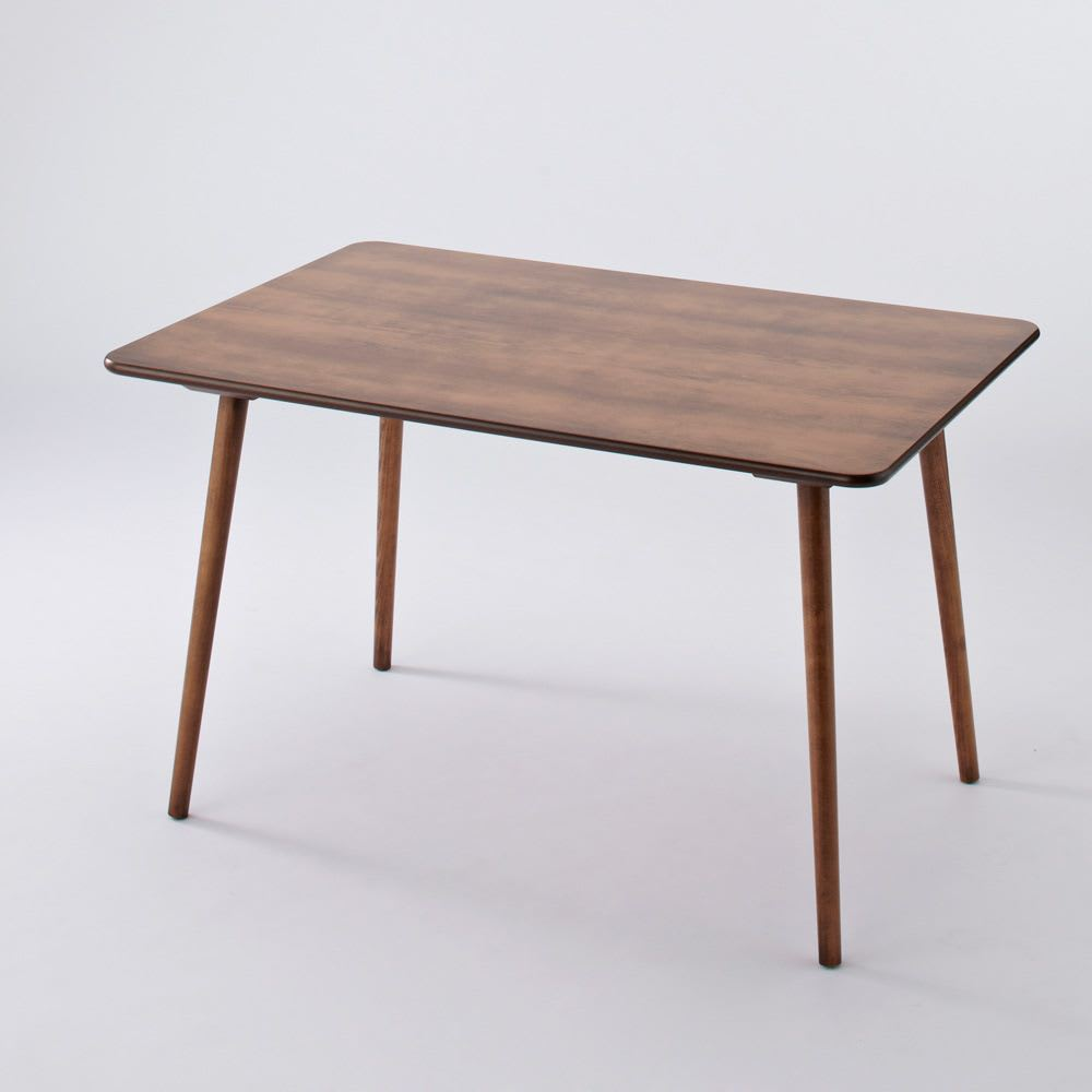 アンティーク風テーパーダイニングテーブル 長方形テーブル幅約120cm×80cm[チェコTON社製] 全体