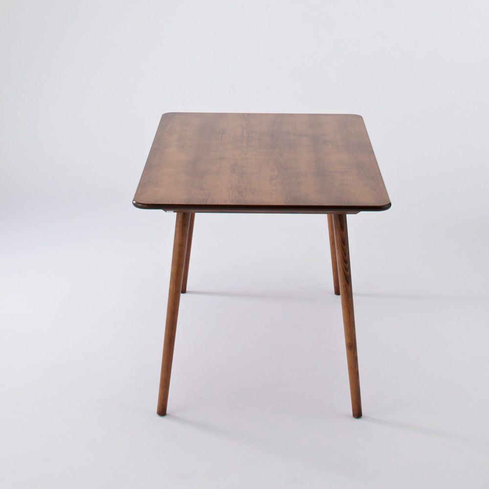 アンティーク風テーパーダイニングテーブル 長方形テーブル幅約120cm×80cm[チェコTON社製] 側面