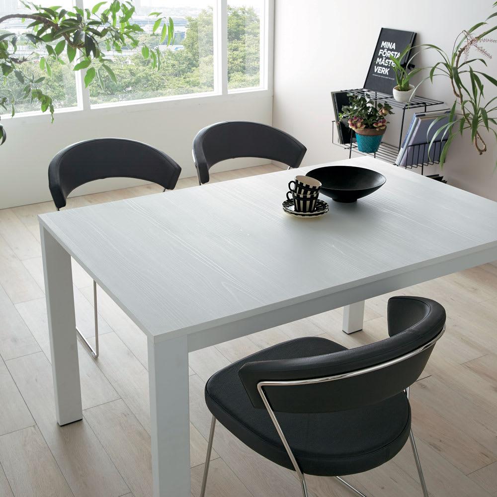 5点セット Connubia/コヌビア 伸長式テーブル+Philadelphiaチェア4脚  テーブル幅130cm(伸長時190cm) 天板ホワイト コーディネート例(ダイニングチェアは別商品です)