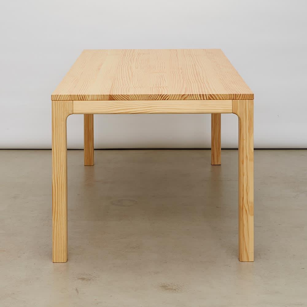 幅160ダイニングテーブル SU:iji/スイージー ニュージーパイン(R)無垢ダイニング 縦から