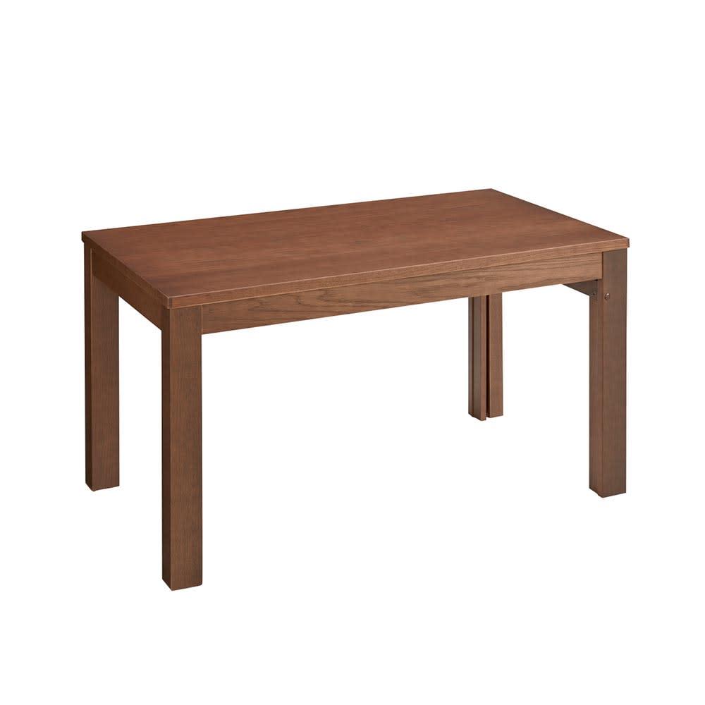 伸長式テーブル幅130~215cm チェア5点セット Vilske/ヴィルスク 伸長式ダイニングシリーズ 木部・ダークブラウン 収納時(長さ130cm)