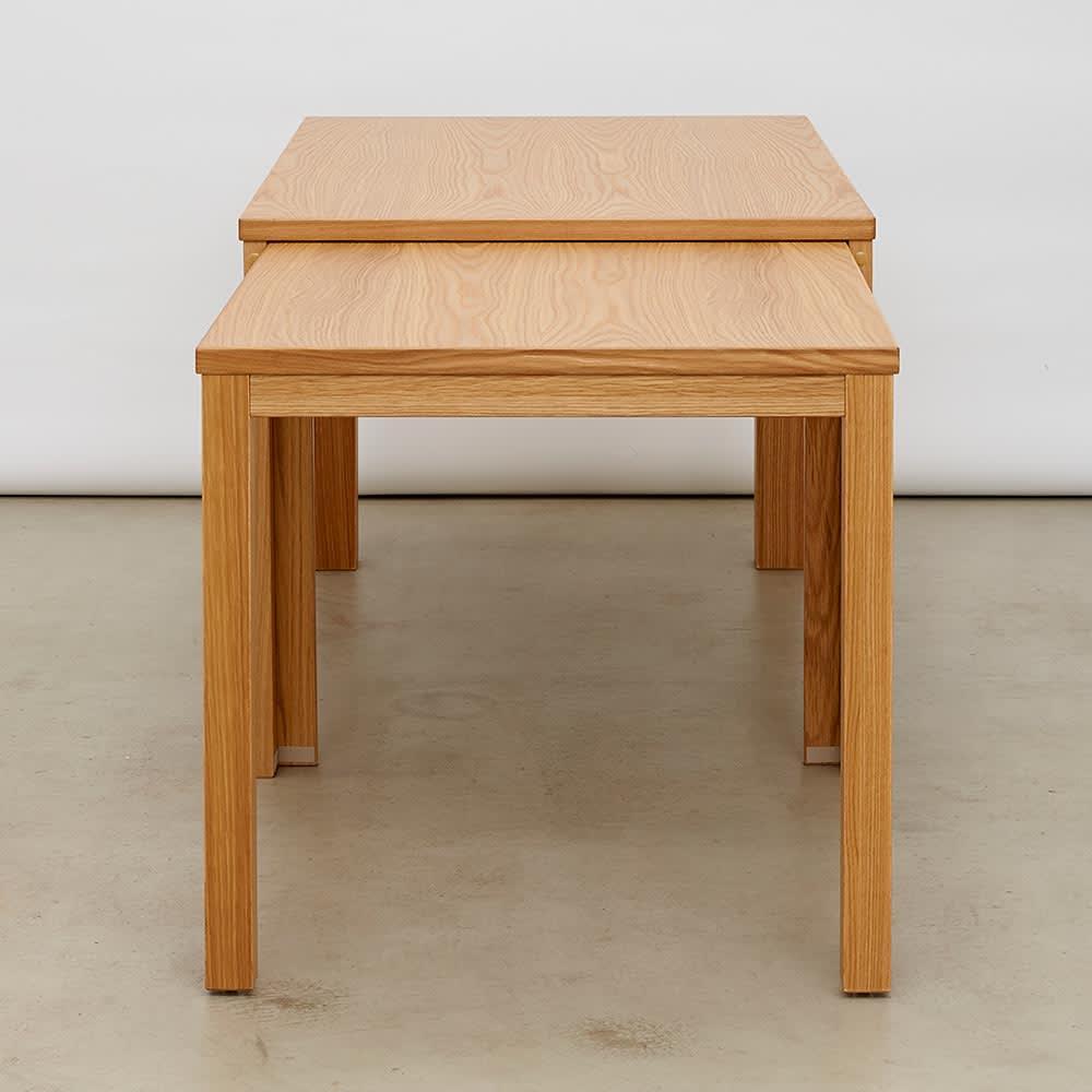 伸長式テーブル 幅130~215cm Vilske/ヴィルスク 伸長式ダイニングシリーズ 縦から 最大伸長時(長さ215cm)
