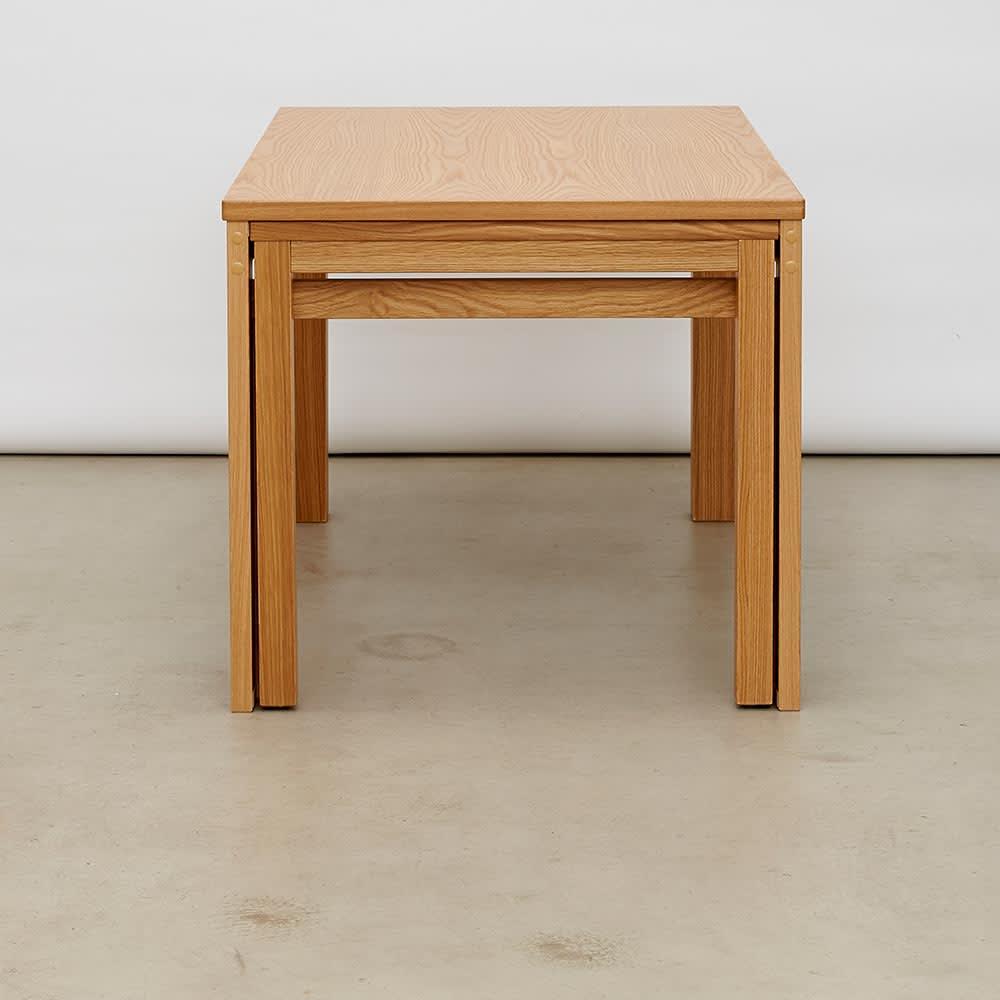 伸長式テーブル 幅130~215cm Vilske/ヴィルスク 伸長式ダイニングシリーズ 縦から 収納時(長さ130cm)