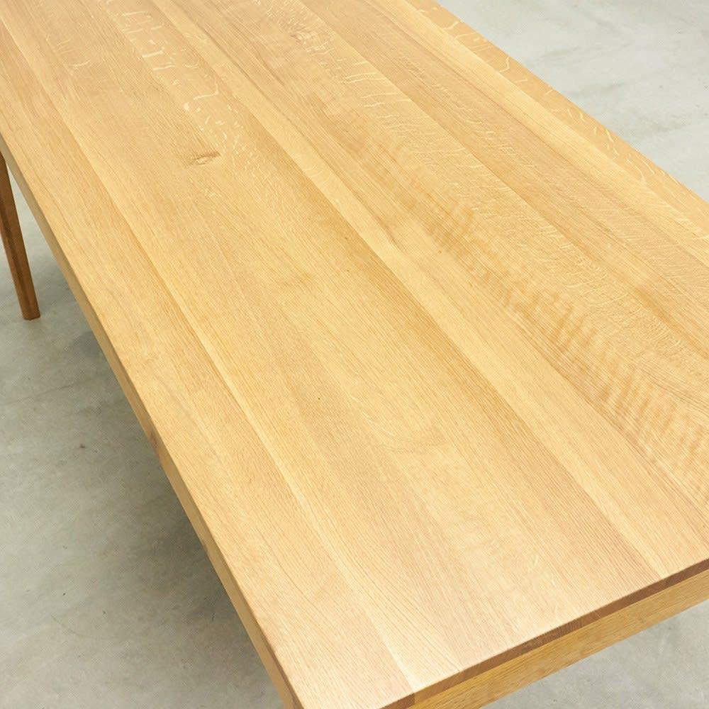 オーク無垢材ダイニングテーブル 幅130cm Luomu/ルオム 良質なオーク材をふんだんに使いました