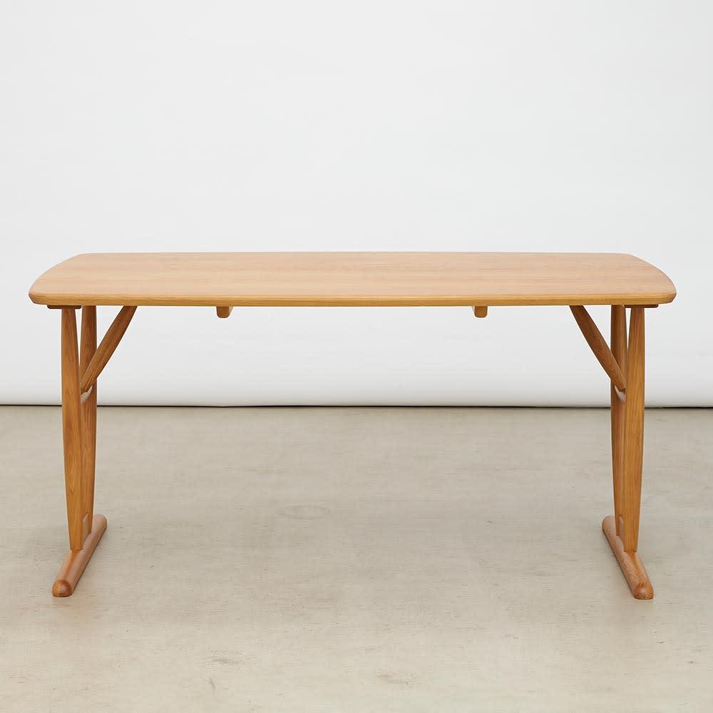 テーブル 幅150cm kolmio/コルミオ ダイニングシリーズ テーブル・脚 外側取付 (横から)