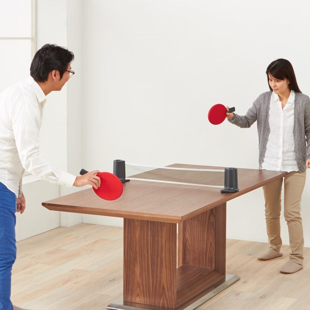 PONGO/ポンゴ ポータブル卓球セット・テーブルテニスセット [umbra・アンブラ] ダイニングテーブルで、さあプレイボール!