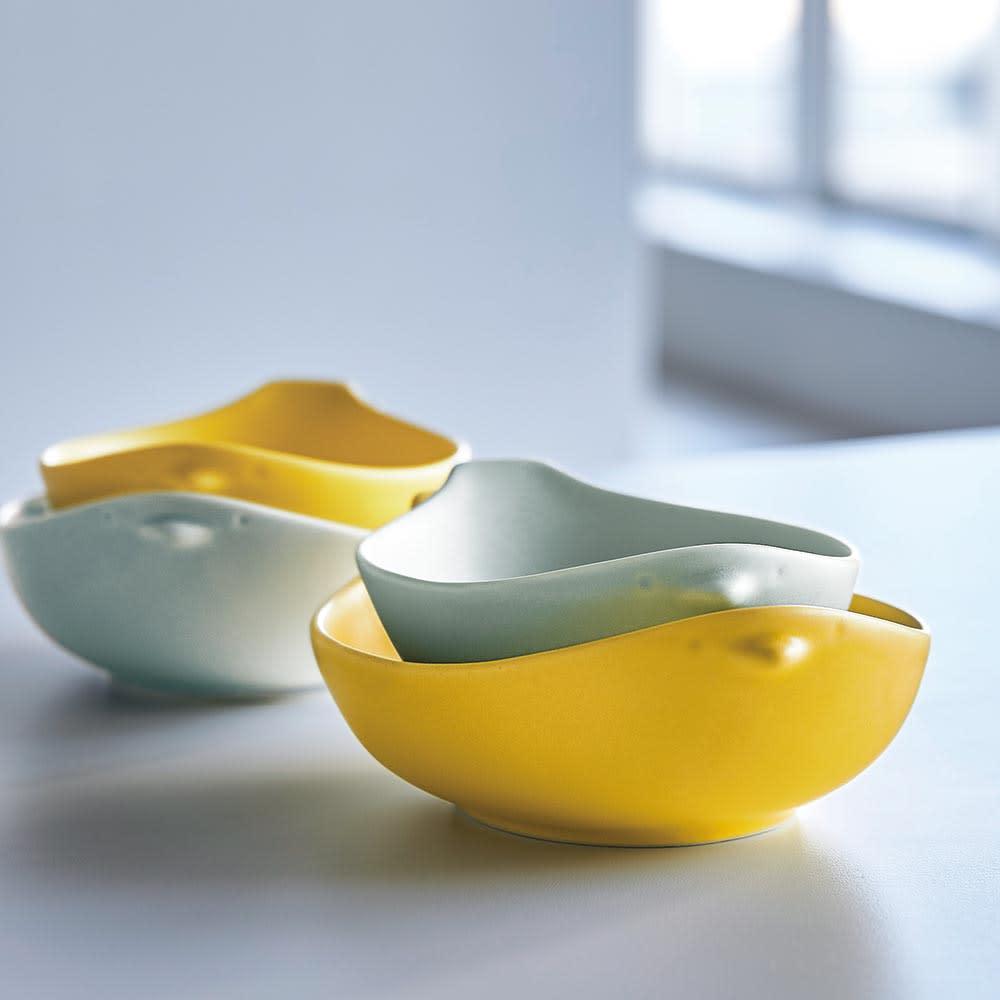 トリコトリ トリ皿 大4枚セット 使用例(画像は大小セット)