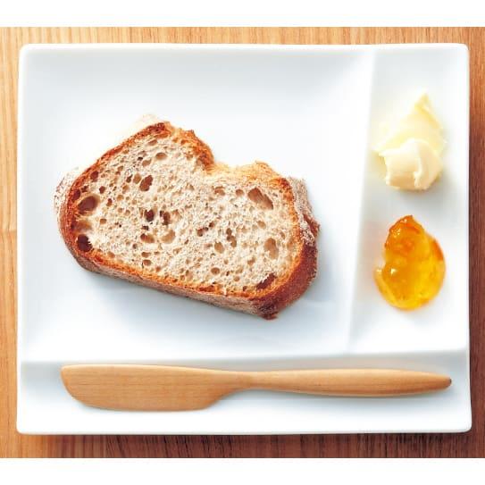 お箸が置けるパレット皿 幅17cm 4枚組 バターやジャムをのせナイフを添えて、バターディッシュとして。