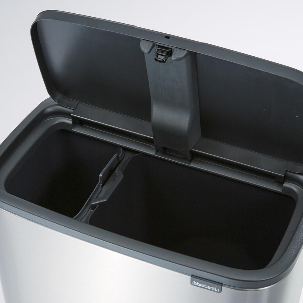brabantia/ブラバンシア ダストボックス Boタッチビン カラータイプ 「2分別」容量:11L+23L 燃えるゴミ・燃えないゴミを分別して捨てられます。