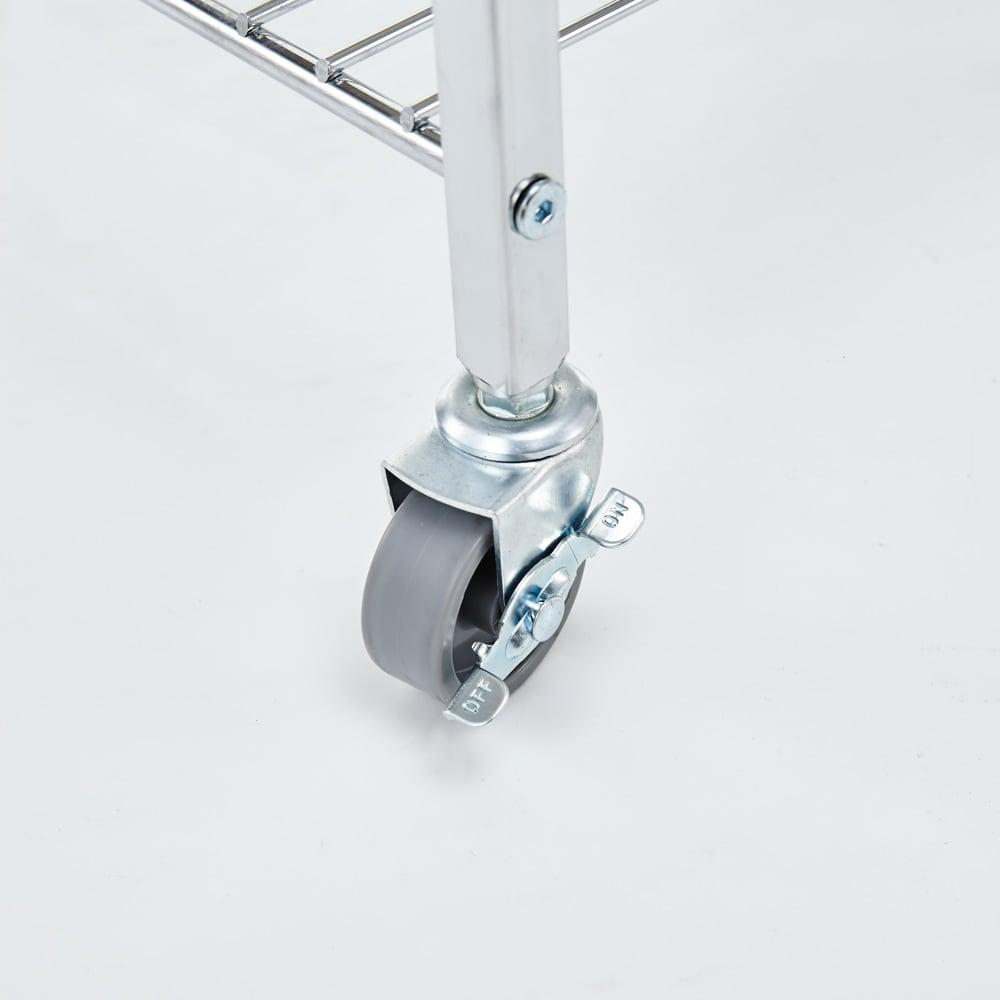 キャスター付き マーブルトップトローリー S(幅45cm) ストッパー付きのキャスターで移動も楽に行えます。