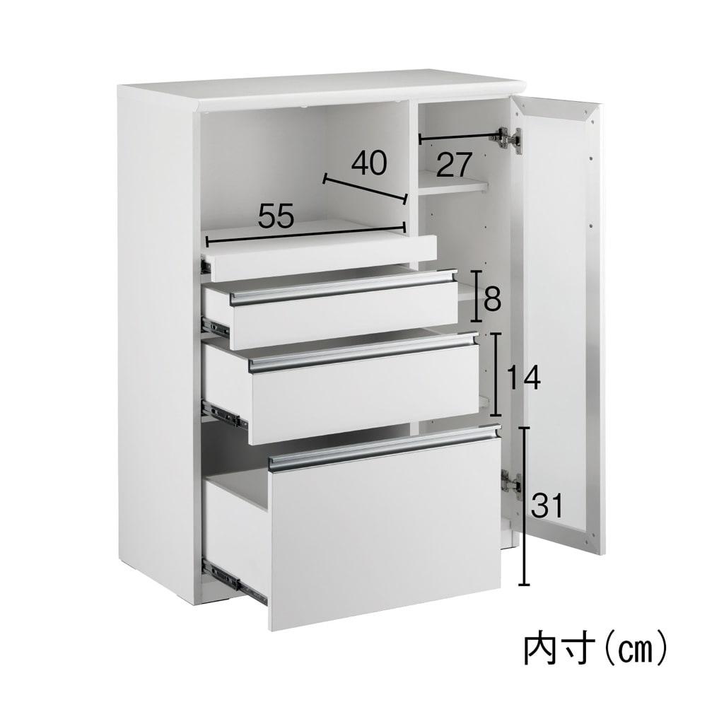 Torerant/トレラント コンパクトレンジカウンター(家電収納) 幅89.5cm