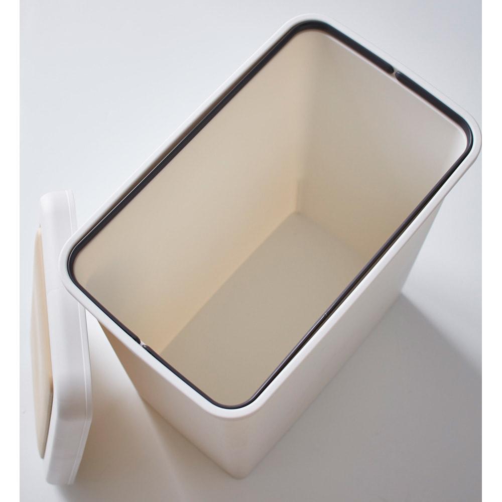 Formo/フォルモ 大理石調 ゴミ箱付きカウンター 2分別 ダストペールは丸洗い可能です。