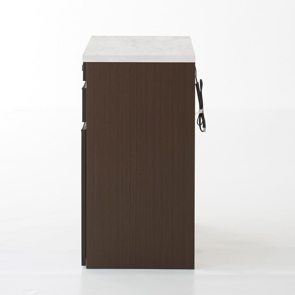 Formo/フォルモ 大理石調 ゴミ箱付きカウンター 2分別