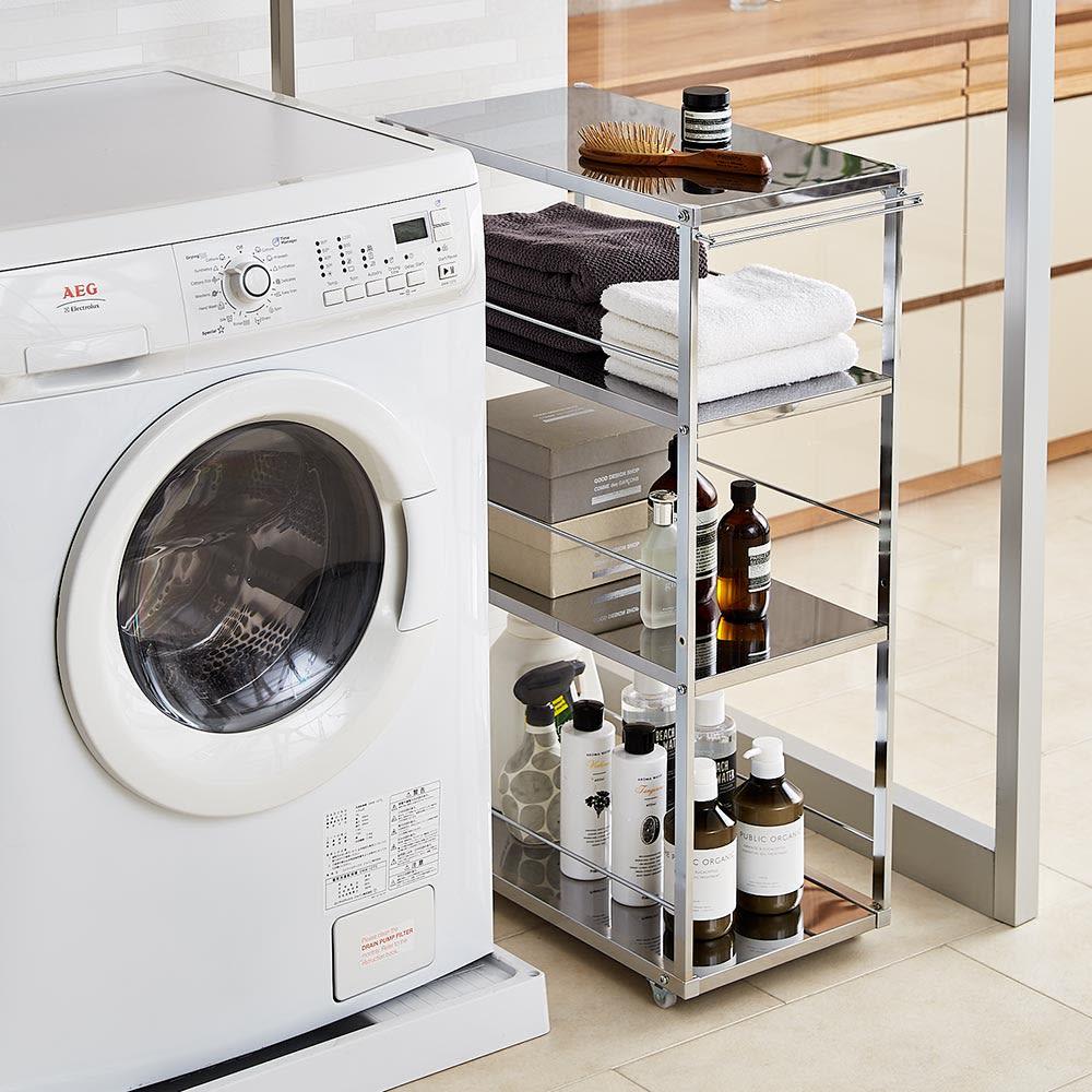 Prop/プロープ キッチン横 ステンレススリム作業台 幅20cm 洗濯機横の隙間にランドリーワゴンとして。